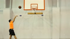 Shooting Hoops - stock footage