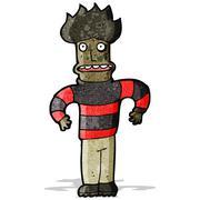 Cartoon angst man Stock Illustration