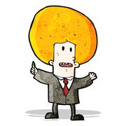 Stock Illustration of cartoon ginger man in suit