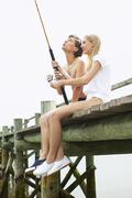 Couple Fishing - stock photo