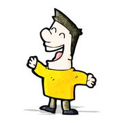 Stock Illustration of cartoon laughing man