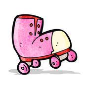 Cartoon roller boot Stock Illustration