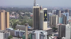 Aerial panning shot of Nairobi, Kenya Stock Footage