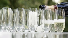 Spilling champagne - stock footage