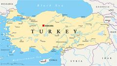 Turkey Political Map Stock Illustration