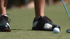 Putt Perfection Golf Stock Footage
