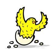 Cartoon flapping bird Stock Illustration