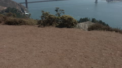 San francisco golden gate bridge tilt Stock Footage