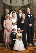 Portrait of Wedding Party Stock Photos