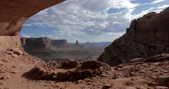 Canyonlands National Park False Kiva 4K 4096x2160 Moving Clouds Stock Footage