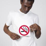 Man Holding No Smoking Sign Stock Photos