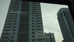 Tokyo Highrise Buildings And Skyscrapers View From Car 4K Stock Footage