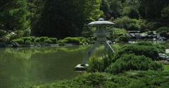 Red Epic - Zen moment at Japanese Garden - stock footage