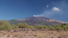Southern slope of Mount Etna. Sicily, Italy. Stock Footage