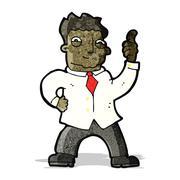 Stock Illustration of cartoon confident office man