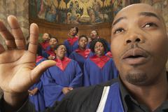 Stock Photo of Gospel Choir and Minister