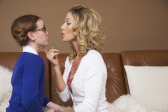 Mother and Daughter Talking Stock Photos