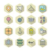 Thin line icons for travel and resort Stock Illustration