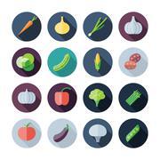 Stock Illustration of flat design icons for vegetables