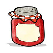 Stock Illustration of cartoon jam jar