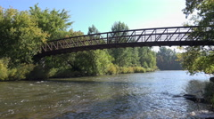 Bridge over a small River Stock Footage