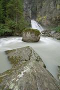 Reinbach Waterfalls, South Tyrol Trentino Alto Adige, Italy Stock Photos