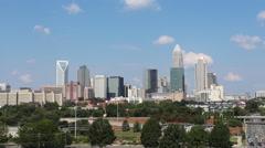 Uptown Charlotte Skyline Stock Footage