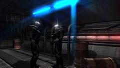 Future Soldier - Space Trooper - Spaceship Corridor - 4k Video Background Stock Footage