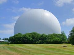gigantic white cupola - stock photo