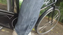 Man cycling a bike Stock Footage
