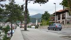 Konjic City, Street Scene Bosnia and Hercegovina Stock Footage