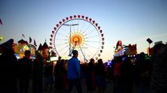 MUNICH BEER FESTIVAL Oktoberfest Octoberfest Funfair Carnival Ferris Wheel Stock Footage