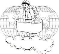 Traveler Stock Illustration