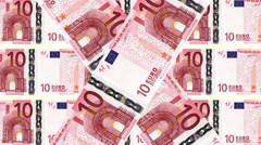 Animated background 10 Euro bills Stock Footage