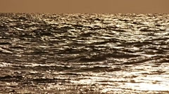 Sea Waves 11 bright bronze Stock Footage