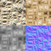 Stock Illustration of stone blocks seamless generated texture (with diffuse, bump and normal map)