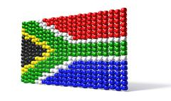 South african zulu bead flag Stock Illustration