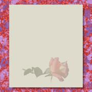 rose writing paper marble texture background - stock illustration