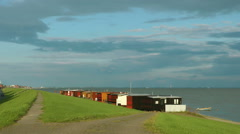 Stock Video Footage of Fishing cabins at Wilhelmshaven, Germany