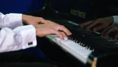 Hands Playing On The Piano Stock Footage
