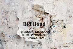 bid bond - stock illustration