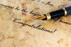 congratulation - stock illustration