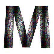Stock Illustration of multicolor letter m