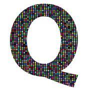 Stock Illustration of multicolor letter q