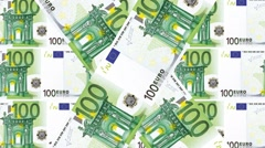 Animated background 100 Euro bills Stock Footage