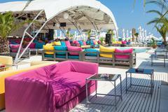 tan tan beach summer club mamaia romania - stock photo