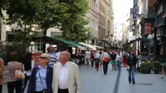 Street scene in downtown Budapest Stock Footage