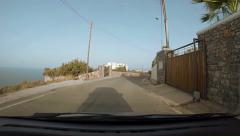 Driving along the coast in Crete hyperlapse - stock footage