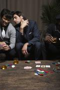 Men Playing Cards - stock photo