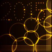 Vector illustration of 2015 new year greeting card  with flame circles - stock illustration